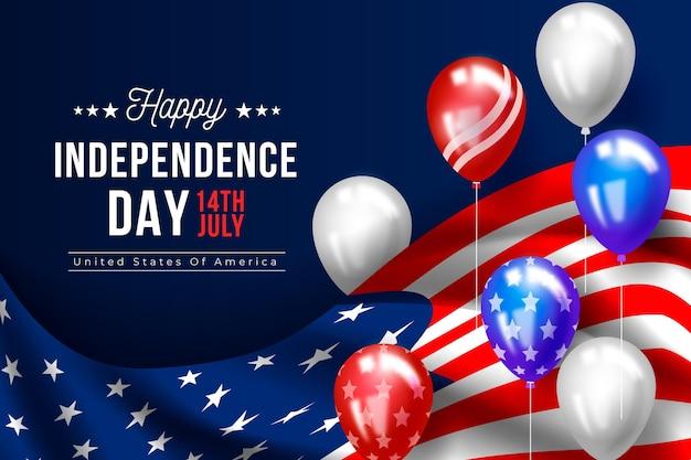 Onafhankelijkheidsdag achtergrondontwerp Gratis Vector