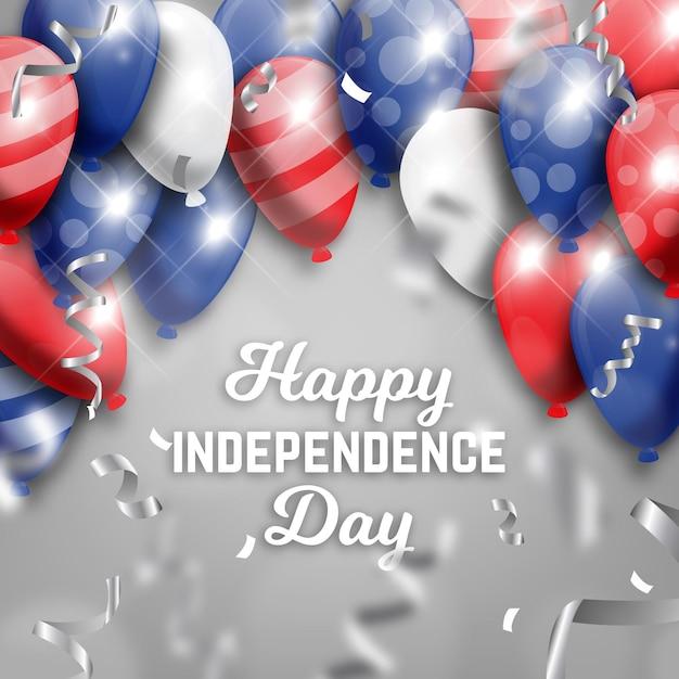 Onafhankelijkheidsdag achtergrondthema Gratis Vector