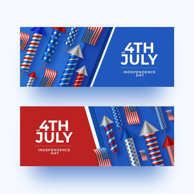 Onafhankelijkheidsdag banners Gratis Vector
