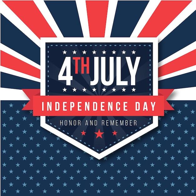 Onafhankelijkheidsdag met sterren Gratis Vector