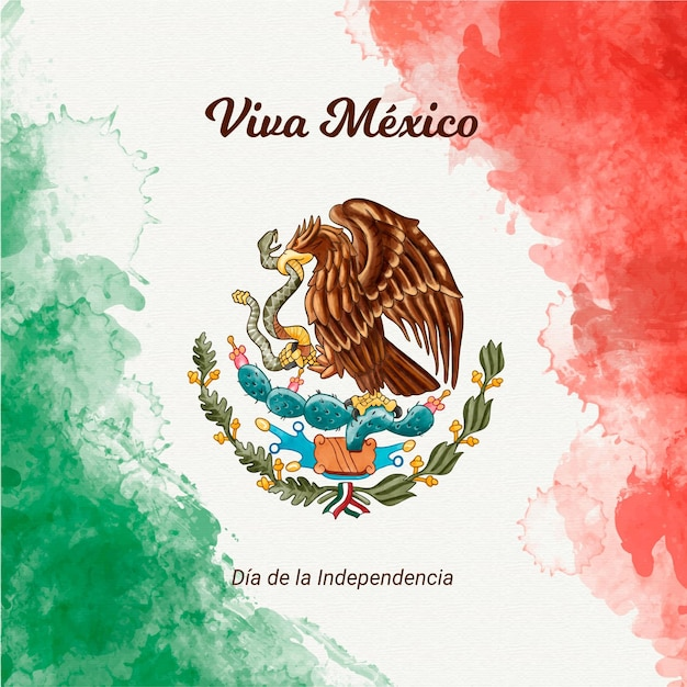 Onafhankelijkheidsdag van mexico Premium Vector