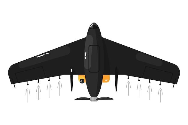 Onbemande vliegtuigen. vliegtuigen drone Premium Vector