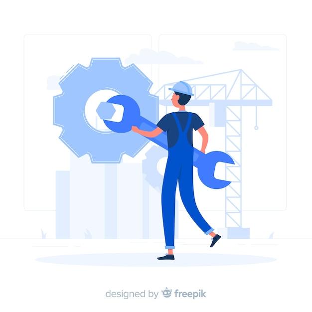 Onderhoud concept illustratie Gratis Vector