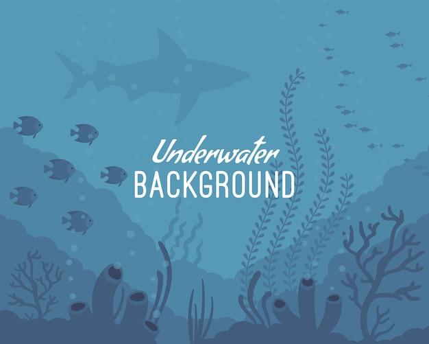 Onderwater achtergrond Premium Vector