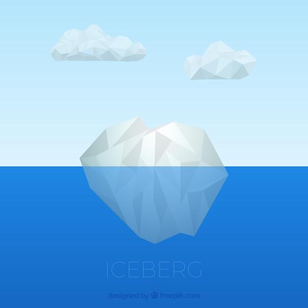 Onderwater ijsberg Gratis Vector