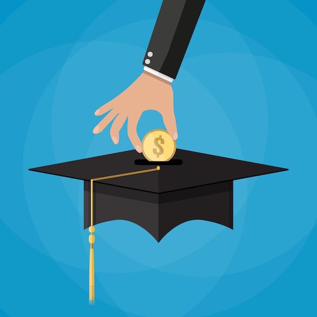 Onderwijs besparingen en investmet concept Premium Vector
