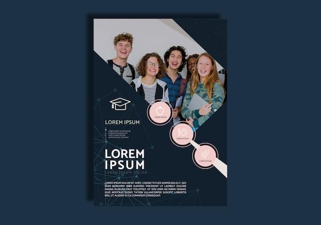 Onderwijs brochure ontwerp Gratis Vector