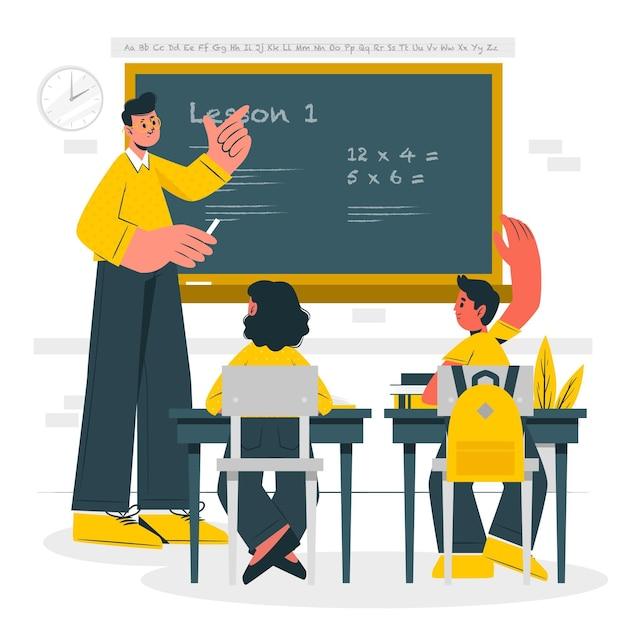 Onderwijs concept illustratie Gratis Vector