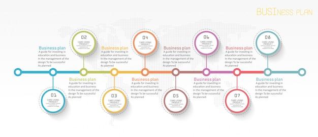 Onderwijs diagram. er zijn 8 stappen, niveau gebruik vectoren in het ontwerp Premium Vector