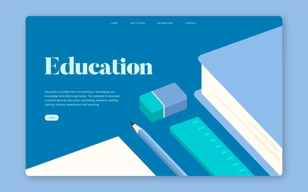 Onderwijs en het leren van informatieve website grafisch Gratis Vector