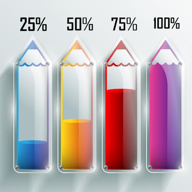 Onderwijs infographic sjabloon Premium Vector