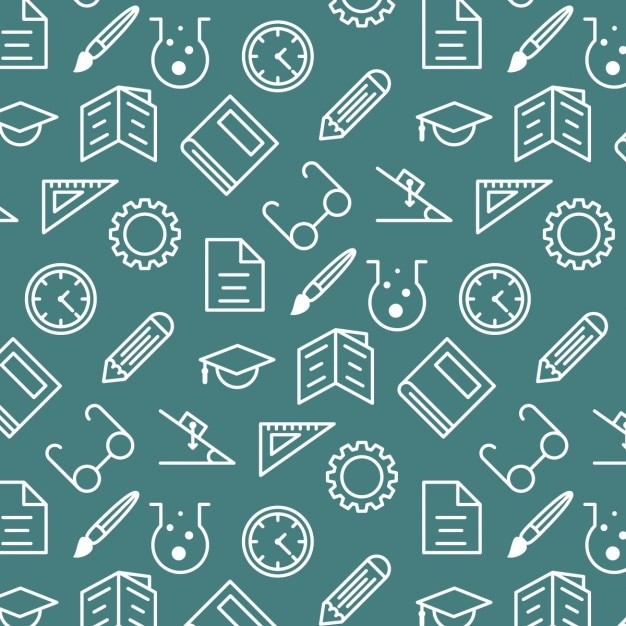 Onderwijs pattern Gratis Vector