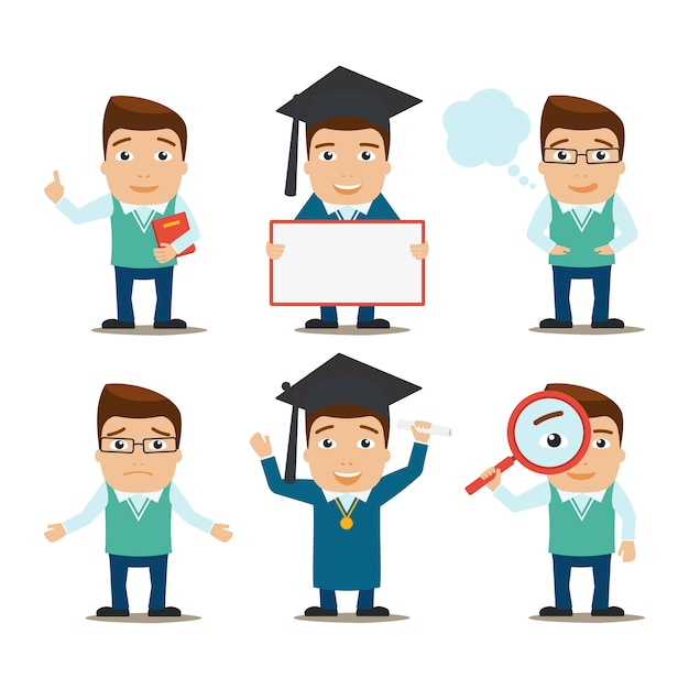 Onderwijs tekens instellen Premium Vector