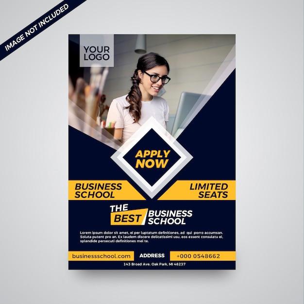 Onderwijsinstituut aantrekkelijk brochureontwerp Premium Vector