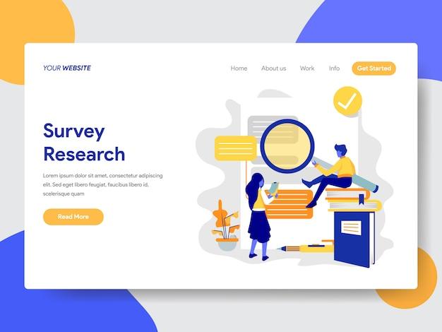 Onderzoeksillustratie voor webpagina Premium Vector