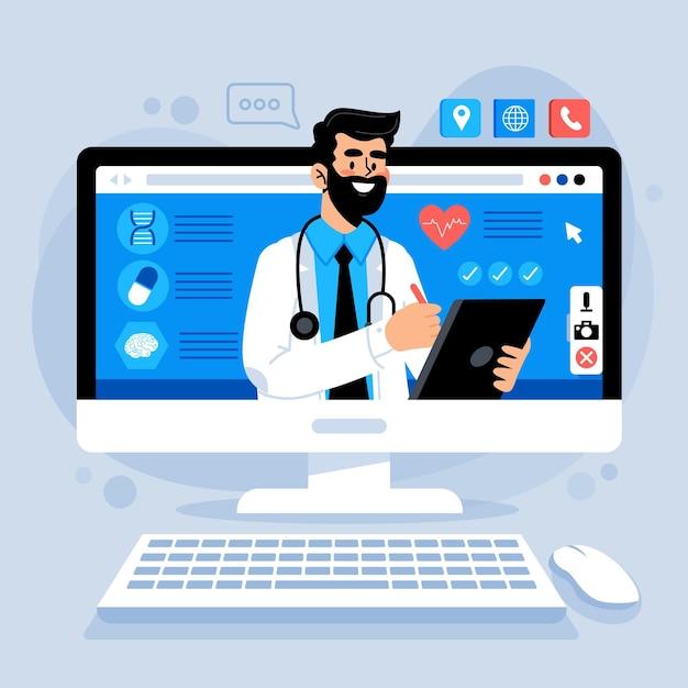 Online arts concept Gratis Vector