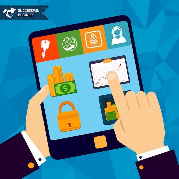 Online bankieren concept Gratis Vector