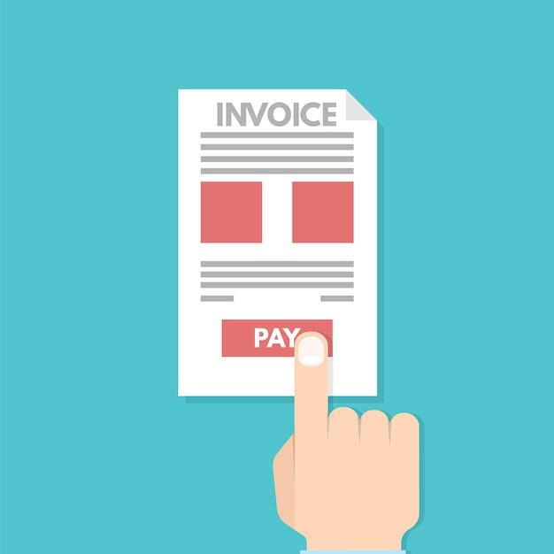 Online belasting betalen, betaling, factuur. financiële boekhouding. Premium Vector
