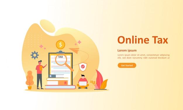 Online belastingbetaling Premium Vector