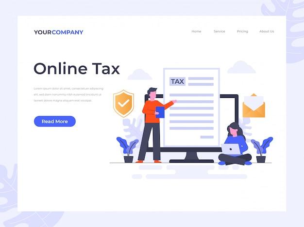 Online belastinglandingspagina Premium Vector