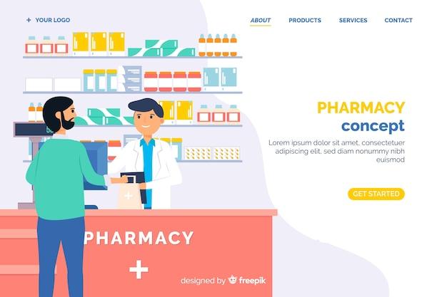 Online bestemmingspagina sjabloon voor apotheken Gratis Vector