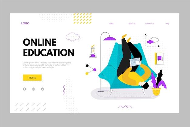 Online bestemmingspagina voor persoonlijk onderwijs Gratis Vector