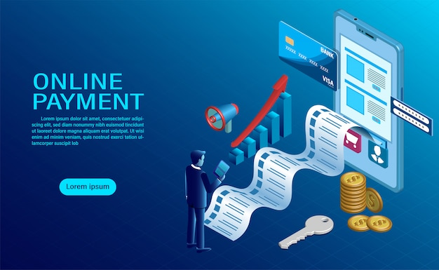 Online betalen met mobiel. bescherming van geld bij gsm-transacties Premium Vector