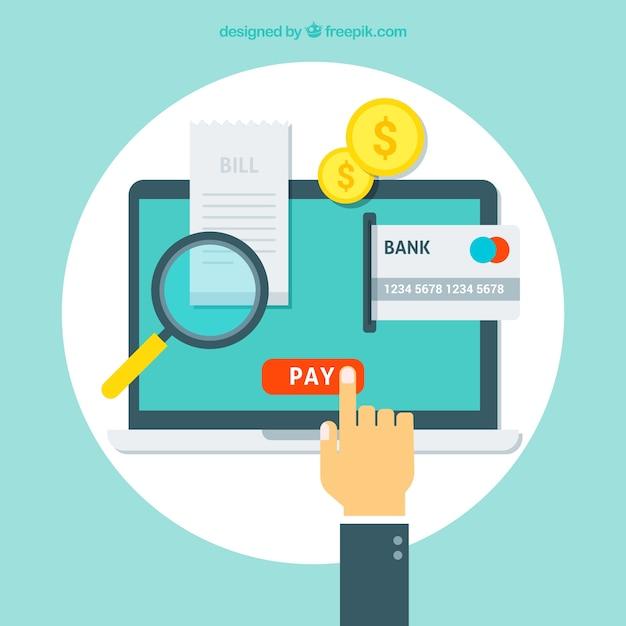 Online betaling achtergrond Gratis Vector