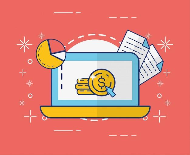 Online betalingsconcept Gratis Vector