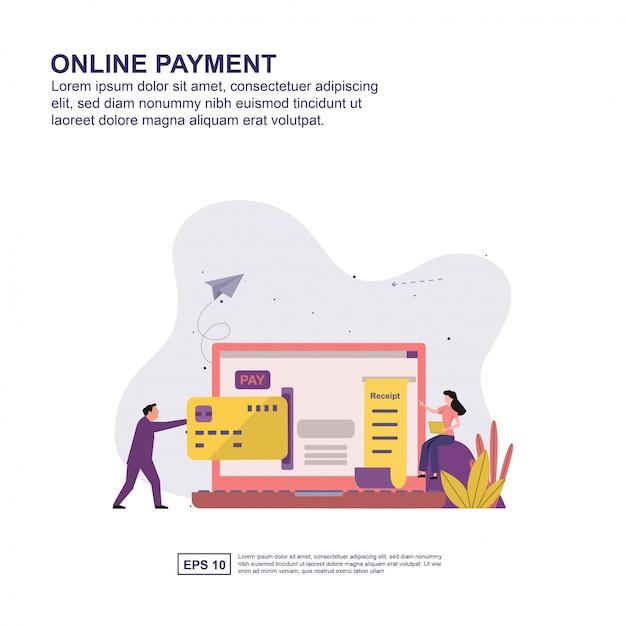 Online betalingspresentatie, sociale media promotie, banner Premium Vector