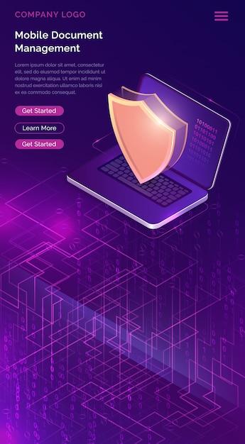 Online beveiligingsgarantie sjabloon Gratis Vector