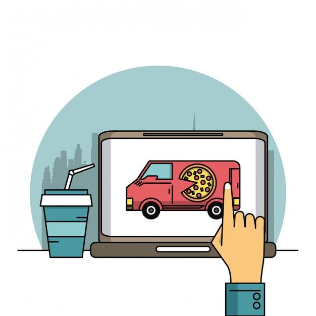 Online eten bestellen Premium Vector