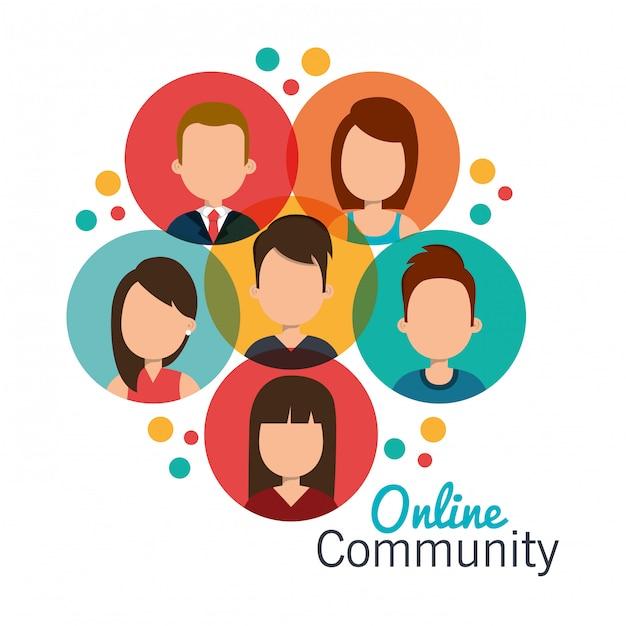 Online gemeenschap Gratis Vector