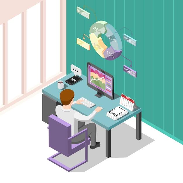 Online handel isometrisch Gratis Vector