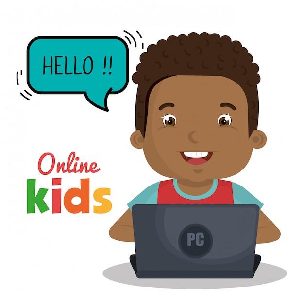 Online kinderen Gratis Vector