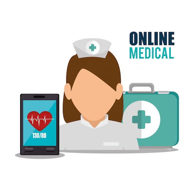 Online medisch ontwerp Gratis Vector