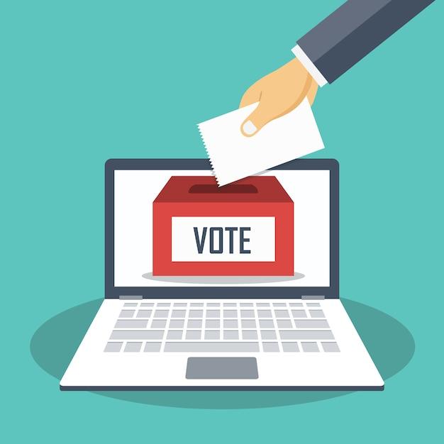 Online stemmen   Premium Vector