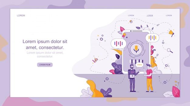 Online technisch klantenservicebedrijf. Premium Vector
