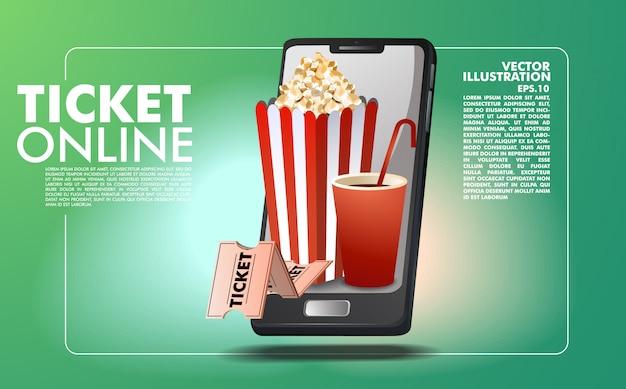 Online ticket boeking sjabloon Premium Vector