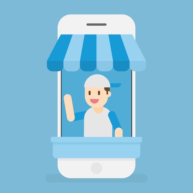 Online winkel. e-commerce. Premium Vector