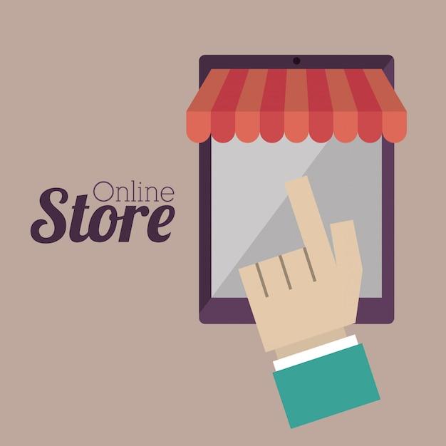Online winkel Premium Vector