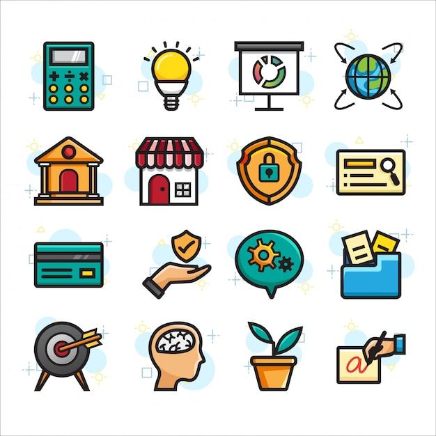 Online winkelen, e-commerce icon set Premium Vector
