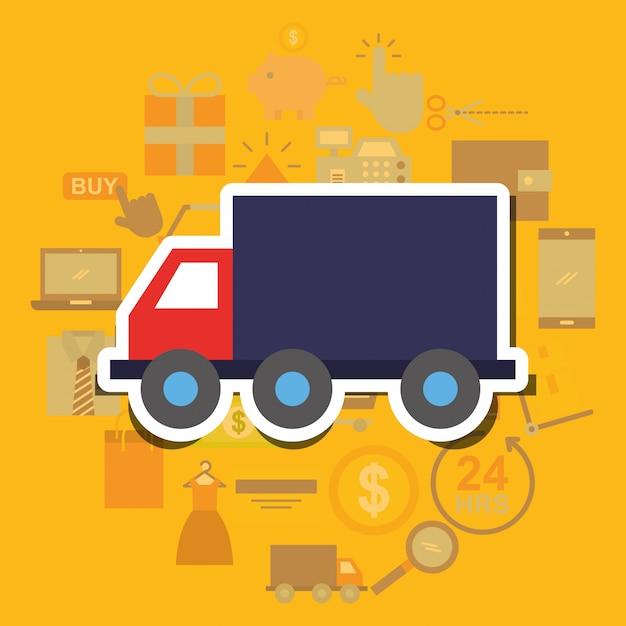 Online winkelen handel Premium Vector