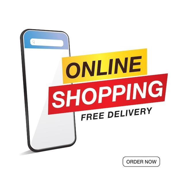 Online winkelen verkoop en speciale aanbieding-tag, prijskaartjes, verkooplabel, banner, vectorillustratie. Premium Vector