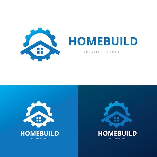 Onroerend goed logo, huiszorg logo, eigendom, huis logo, huis en gebouw, vector logo sjabloon Premium Vector