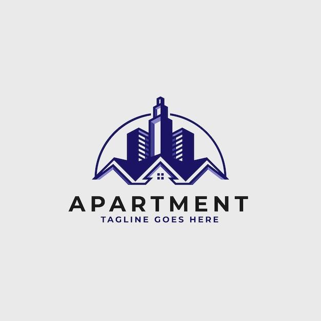 Onroerend goed logo ontwerpsjabloon - bouw en architectuur gebouw logo Premium Vector