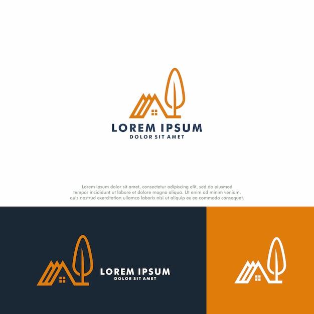Onroerend goed logo sjabloon Premium Vector