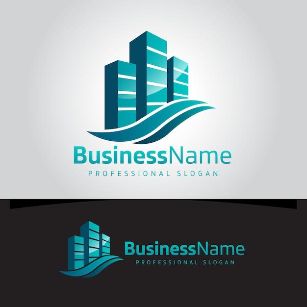 Onroerend goed logo Premium Vector