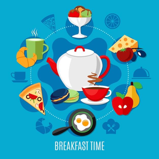 Ontbijt restaurant concept Gratis Vector
