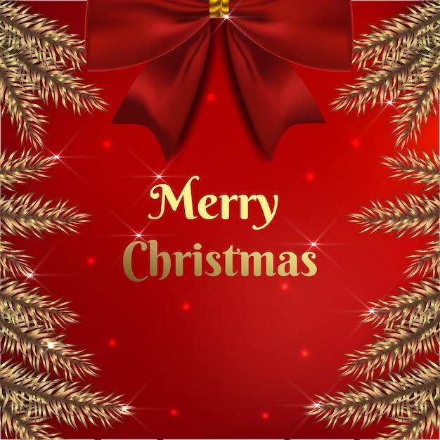 Ontwerp kerstmis met decoratie in bladgoud Gratis Vector